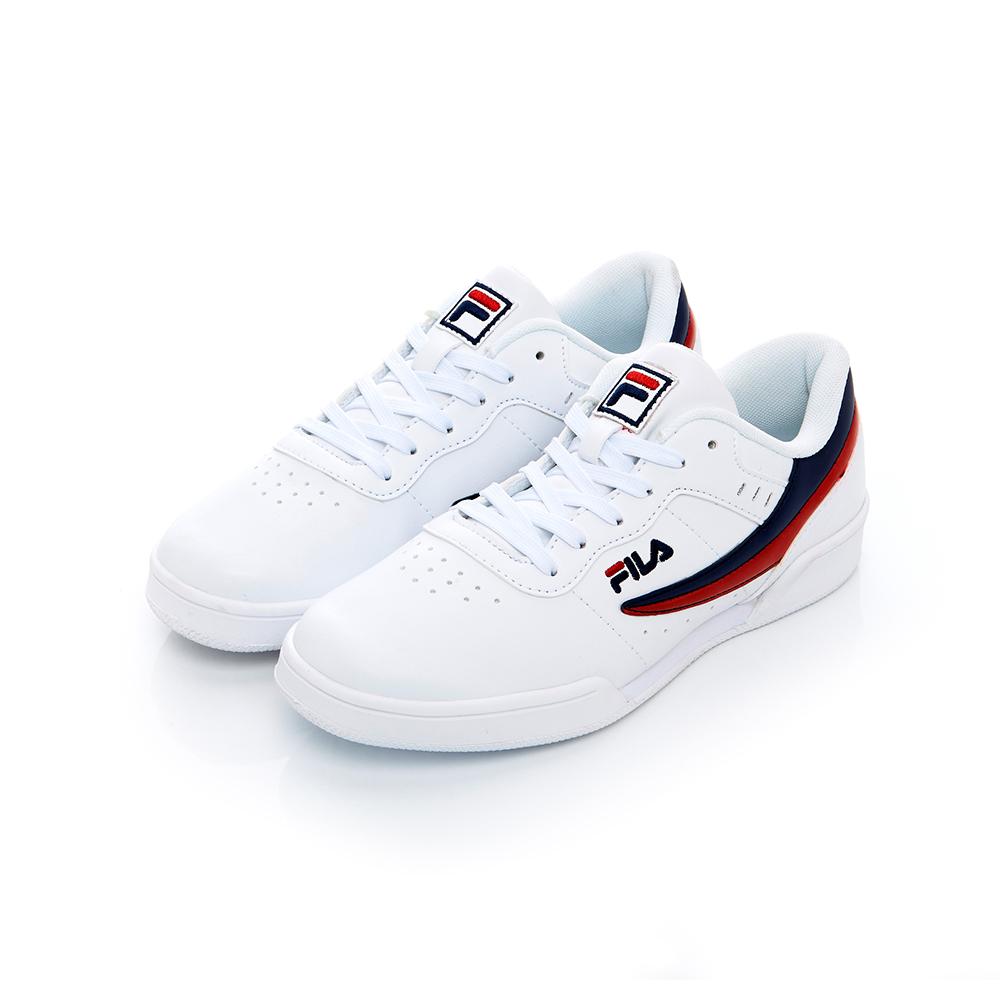 FILA 中性復古運動鞋-白藍色 4-J327T-123
