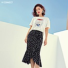 H:CONNECT 韓國品牌 女裝-點點圖印T-shirt-白
