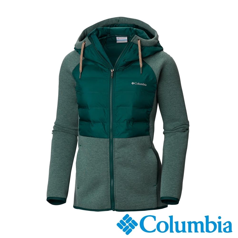 Columbia 哥倫比亞 女款- 防潑快排連帽外套-綠色UAK12150GR