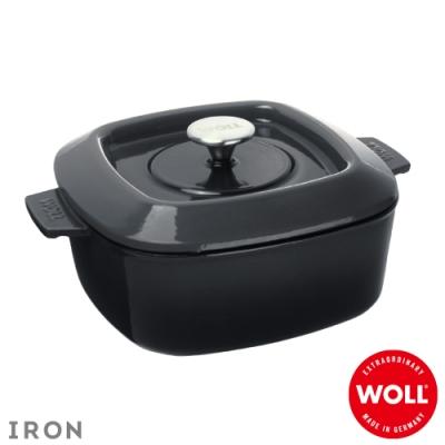 WOLL德國歐爾 IRON方型鑄鐵鍋24cm-灰