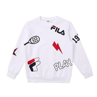 FILA KIDS針織上衣-白 1TES-8403-WT