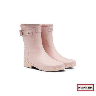 HUNTER - 女鞋-Refined霧面短靴 - 粉