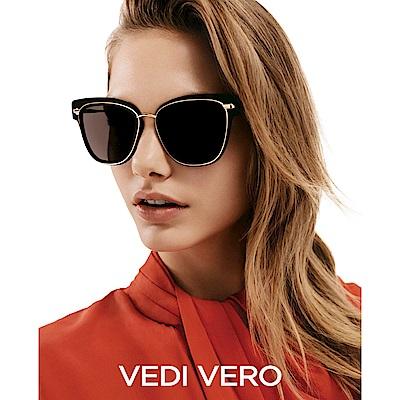 VEDI VERO 個性 太陽眼鏡 (黑配金)VE717