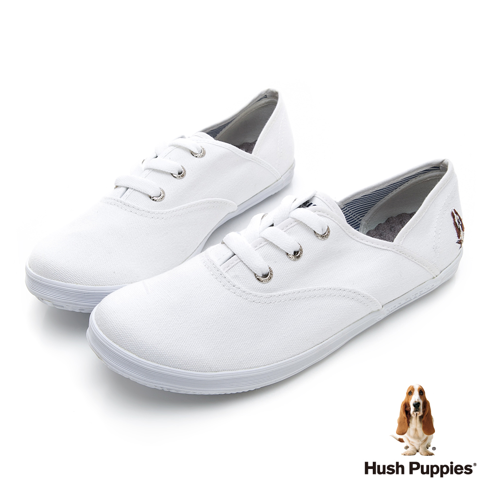 Hush Puppies 熱銷補貨咖啡紗小白鞋