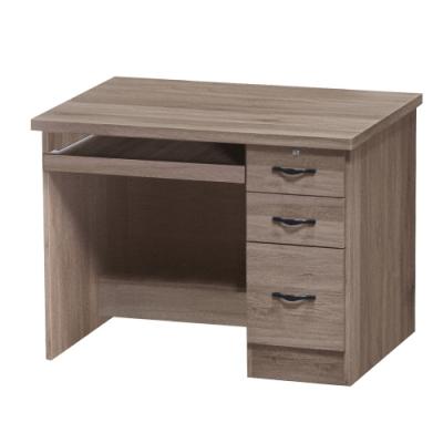 綠活居 麗迪現代風3.5尺三抽書桌/電腦桌-104x55x76cm免組