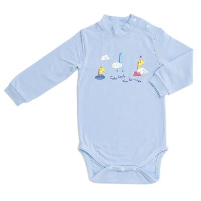 奇哥 長頸鹿側開內衣兔裝-羊毛保暖布 12個月 (2色選擇)