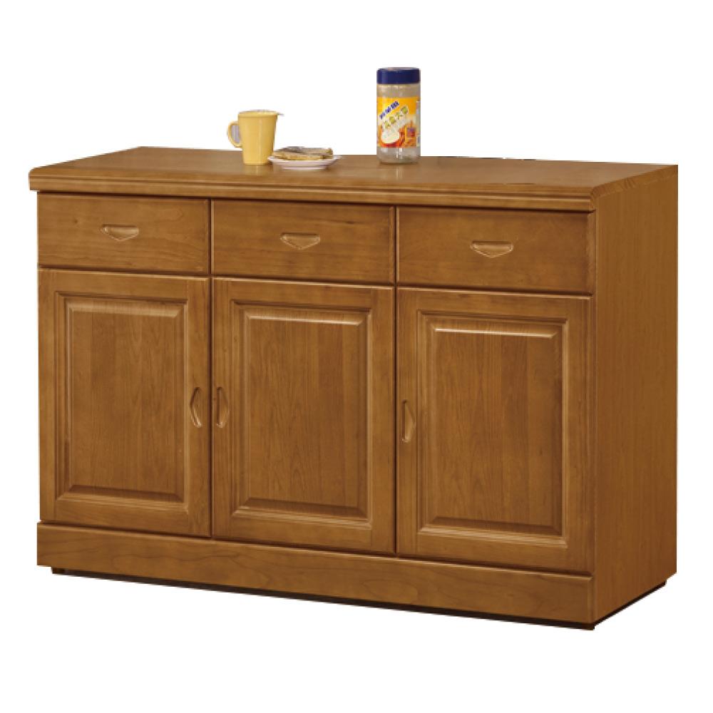 綠活居 尼圖曼時尚4尺實木餐櫃/收納櫃-120x44x84cm-免組