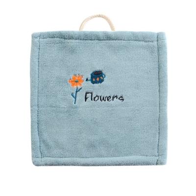 【Dagebeno荷生活】童趣刺繡珊瑚絨擦手巾 加厚款超吸水