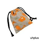 uhplus 迷你束口袋-小狐狸(灰橘)