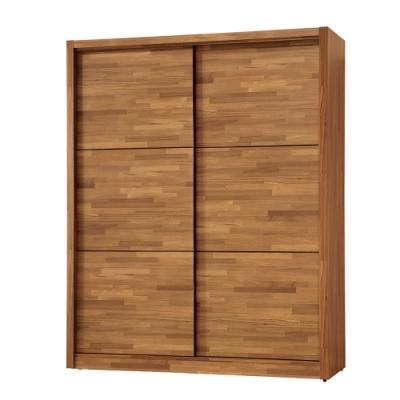H&D 克里斯5尺推門衣櫃