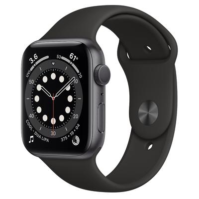 Apple Watch Series 6 (GPS) 44mm 太空灰色鋁金屬錶殼+黑色錶帶(M00H3TA/A)
