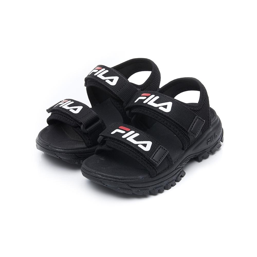 FILA KIDS 大童運動涼鞋-黑 2-S171V-014