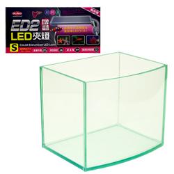 《台製》高透析海灣5mm空缸(6吋)+《水族先生》LED增豔超輕量側夾燈(17CM)