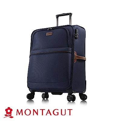 MONTAGUT 夢特嬌-MIT-19吋多色復古文青大雙輪輕量箱(超輕量聚酯纖維)