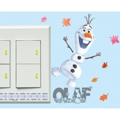 BID130 迪士尼冰雪奇緣2系列開關壁貼-雪寶