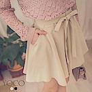 東京著衣-yoco 精緻寬口浪漫氣質綁帶短褲-S.M.L(共二色)