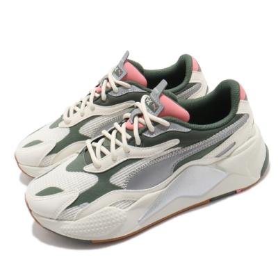 Puma 休閒鞋 RS-X3 Grids 復古 厚底 男女鞋 麂皮 反光 穿搭推薦 球鞋 情侶鞋 白 綠 37413804