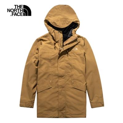 The North Face北面男款棕色防水透氣三合一外套|4U8N173