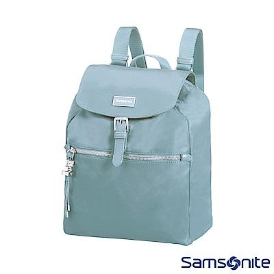 Samsonite新秀麗 KARISSA 經典時尚抽繩吊飾後背包(淺灰藍)