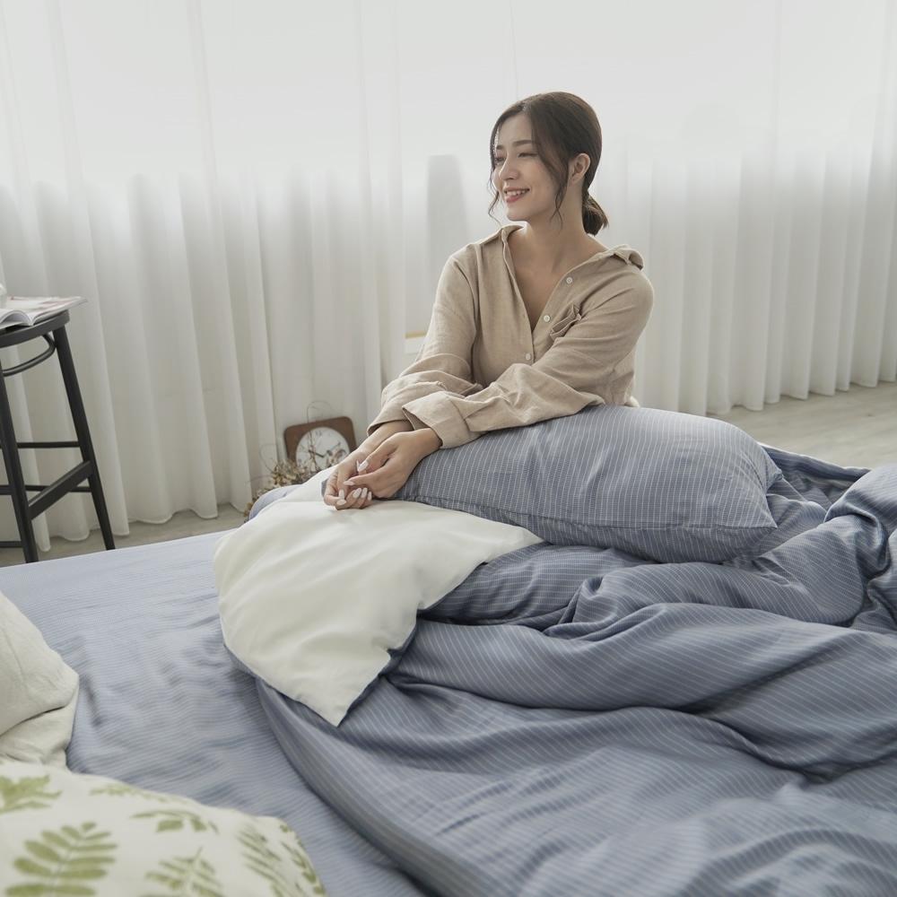 BUHO 台製300織100%TENCEL純天絲床包枕套三件組-雙人(時光清淺)
