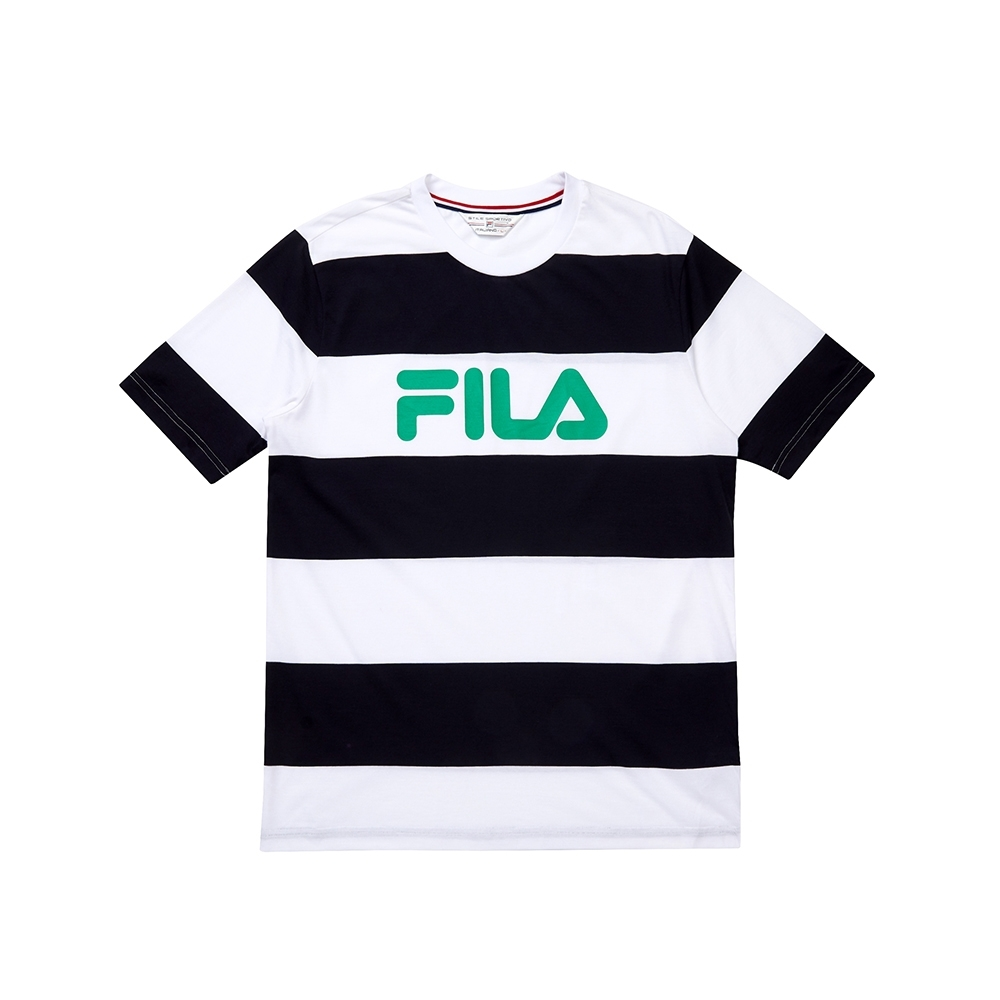 FILA 吸濕排汗圓領T恤-丈青 1TEU-1447-NV