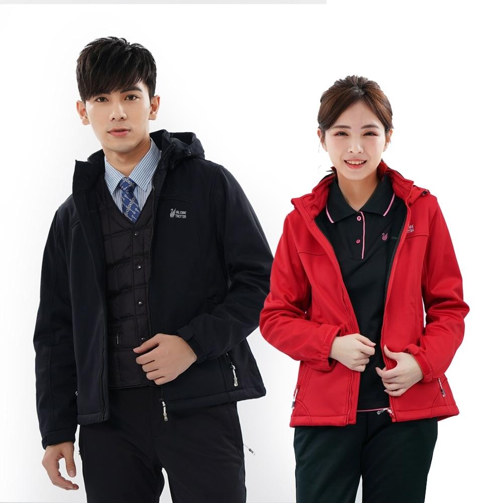【遊遍天下】男女款GlobeTex防水透濕防風刷毛軟殼外套(六色)