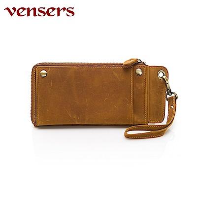 vensers 小牛皮潮流個性皮夾~(NB307001瘋馬皮長夾)