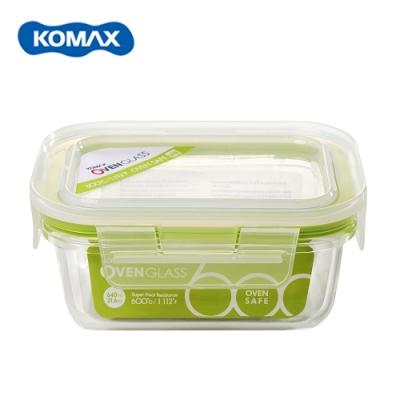 韓國Komax 扣美斯耐熱玻璃長型保鮮盒(烤箱.微波爐可用)640ml