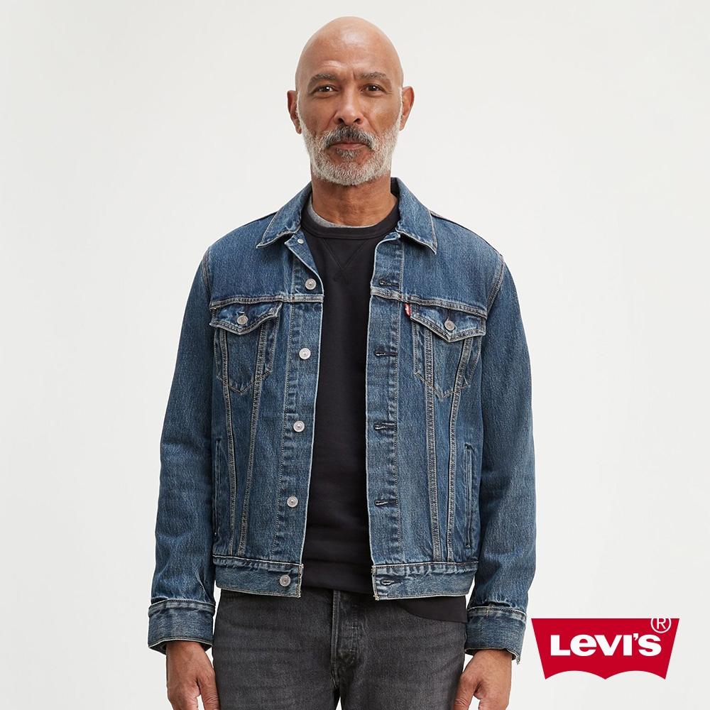 Levis X Google 男款 第二代Jacquard 智慧牛仔外套 / 經典修身版型 / 深藍水洗