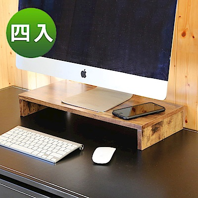 BuyJM低甲醛復古風防潑水桌上架/螢幕架-4入-54x24x8公分-DIY