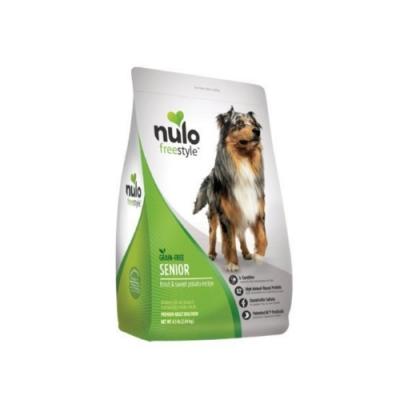NULO紐樂芙-無穀高肉量高齡犬-黃金鱒魚+鹽酸鹽葡萄糖胺 24lb (10.9kg)
