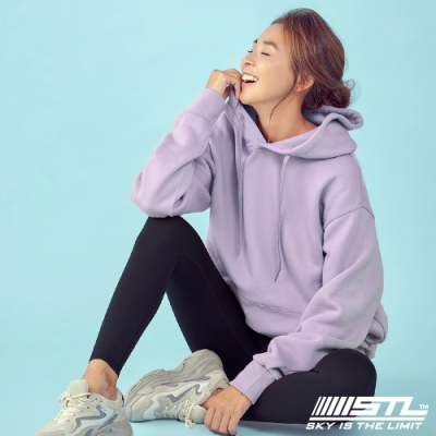 STL YOGA 韓國瑜珈 METRO SEMI overfit hoodie 運動休閒 純色連帽刷毛重磅大帽T 甜美紫SweetPurple