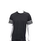 KENZO 幾何字母LOGO黑色棉質短袖T恤(男款)