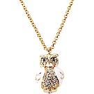 Kate Spade Star Bright Owl 鑲鑽琺瑯貓頭鷹項鍊