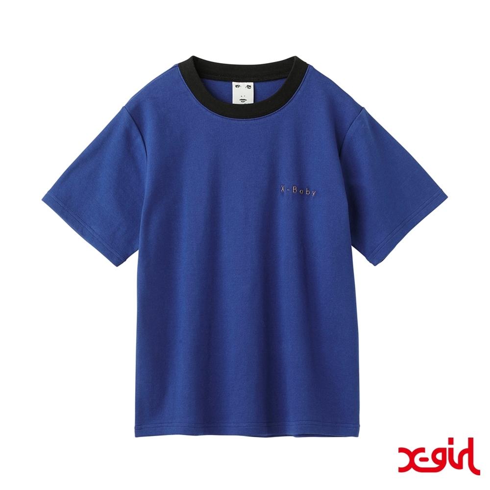 X-girl XGBS SOLID TEE短袖T恤-藍