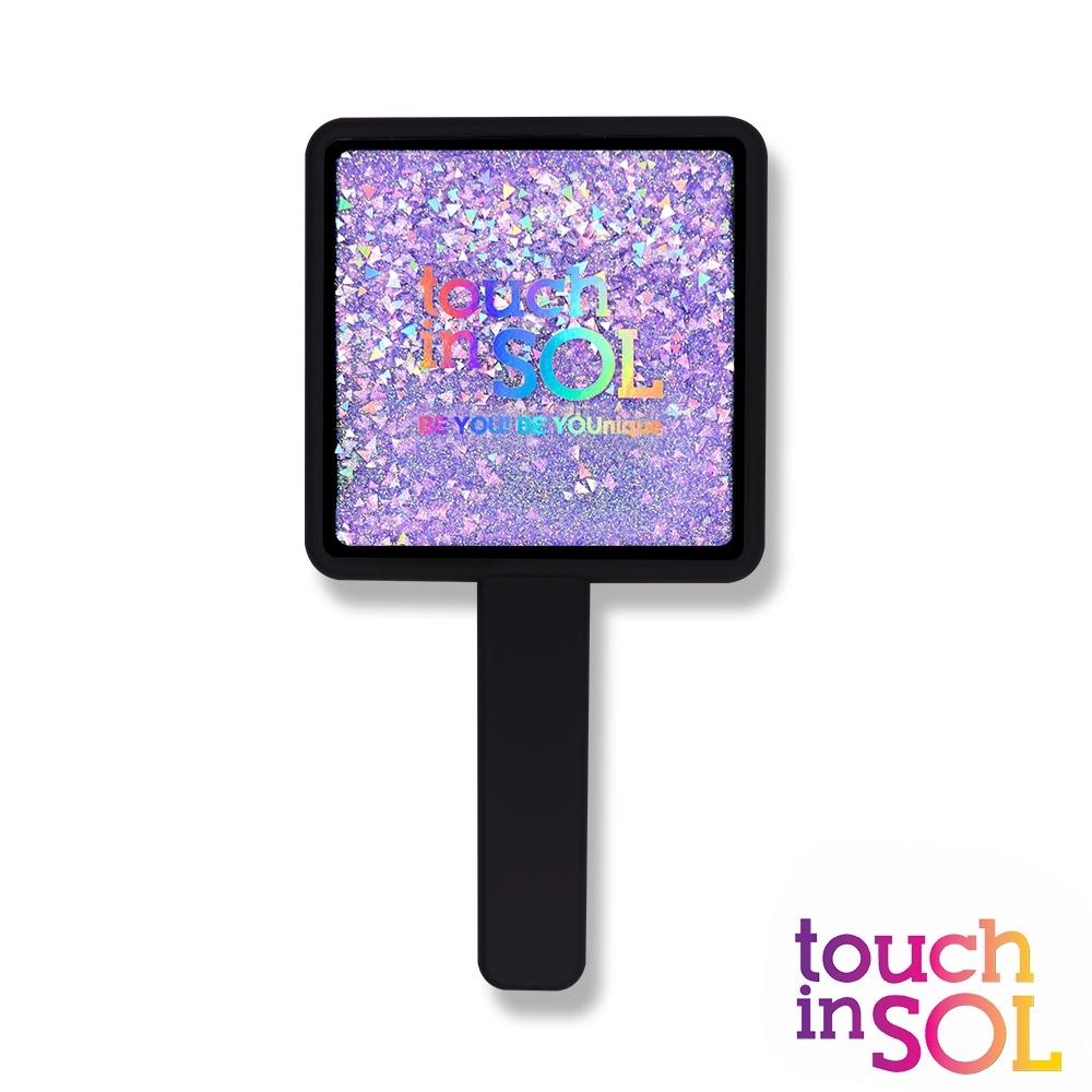 韓國Touch in SOL光之瀅 亮片手柄四角鏡(黑)