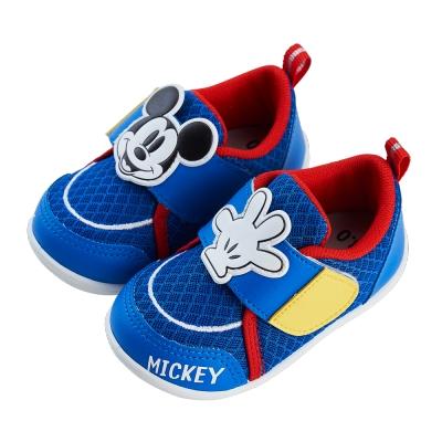 迪士尼童鞋 米奇 異材質拼接寶寶學步鞋
