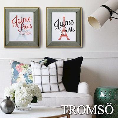 TROMSO 北歐格調金屬木紋8X10相框二入組-都會巴黎