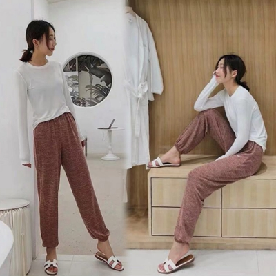 【韓國K.W.】嬌豔航線歐洲款長褲-3色