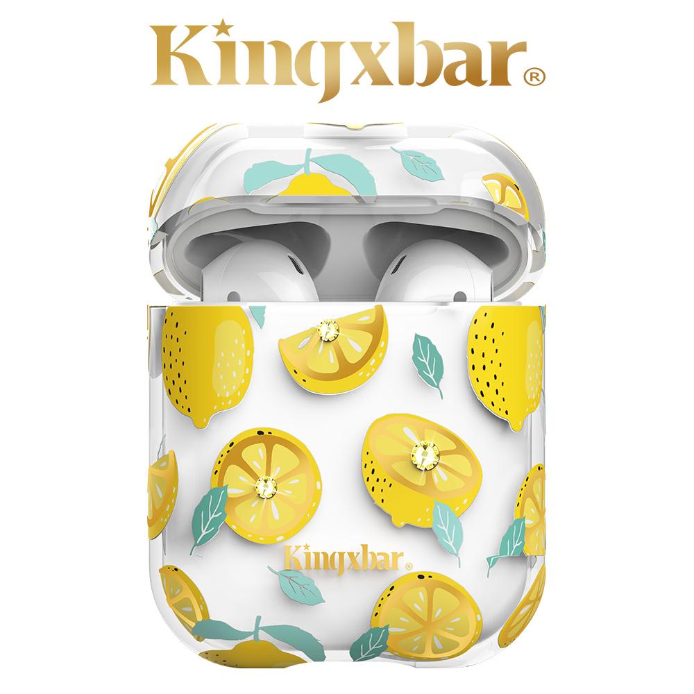 Kingxbar AirPods 施華洛世奇彩鑽保護套-檸檬
