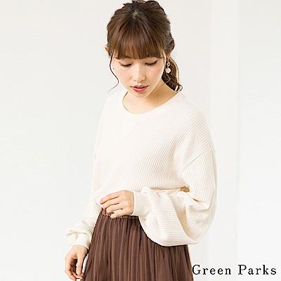 Green Parks 華夫格紋針織圓領上衣