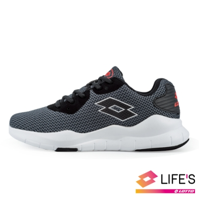 LOTTO 義大利 男 DINAMIC 300 輕量跑鞋 (灰)