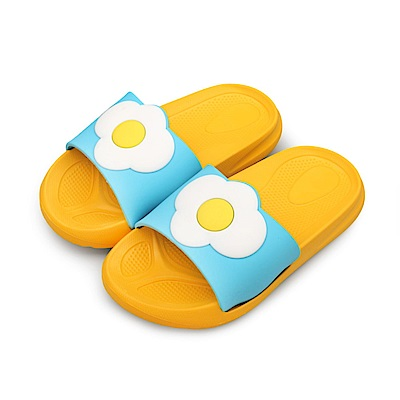 BuyGlasses 夏季水果派對兒童拖鞋-黃