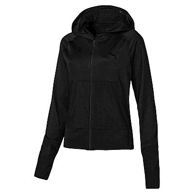 PUMA-女性訓練系列Knockout輕薄連帽外套-黑色(麻花)-歐規