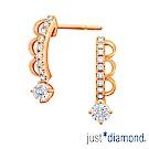 Just Diamond Lacy Crown18K玫瑰金系列 鑽石耳環