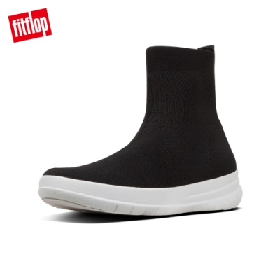 FitFlop UBERKNIT HIGH-TOP SNEAKERS襪套靴-女(黑色)