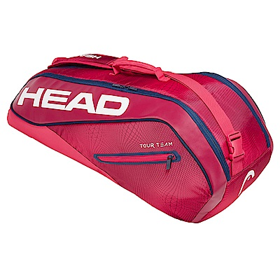 HEAD奧地利 Tour Team系列 6支裝球拍袋-莓紅 283129