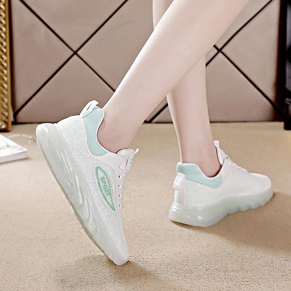LN  現+預 果凍底夜光飛織運動休閒鞋(運動鞋/休閒鞋) (綠色)