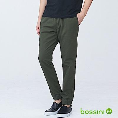 bossini男裝-輕鬆彈性束口長褲02草綠