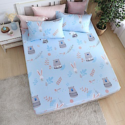DESMOND岱思夢 單人 天絲床包枕套二件組(3M專利吸濕排汗技術) 守望